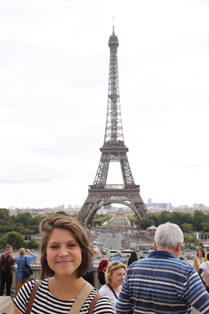 Coley with the Eiffle Tower